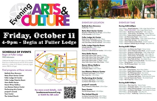 2019.09.19_POST_Evening of Arts & Culture_11x17 Schedule_LBucklin